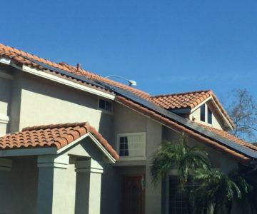 Solar panel installation in Kern County